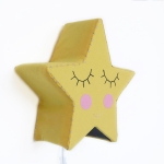 Yellow star wall light
