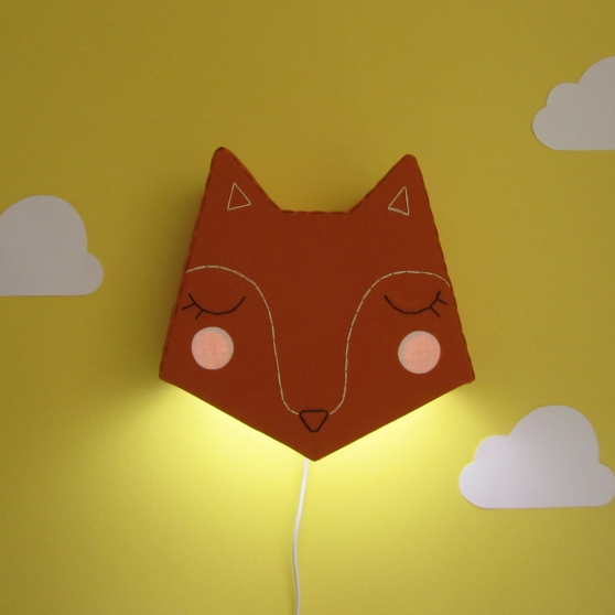 Fox light with glowing cheeks