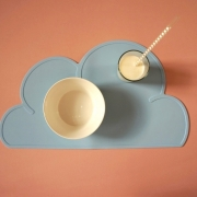 Baby blue silicone cloud mat