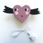 Love heart light with cable